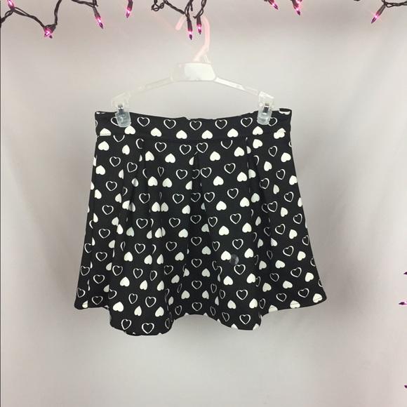 Aeropostale Dresses & Skirts - Bethany Mota Black Heart Skater Skirt